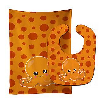 キャロラインズ宝物 BB8799STBU キューティーハニー海タコ オレンジ赤ちゃんよだれかけ・げっぷ衣