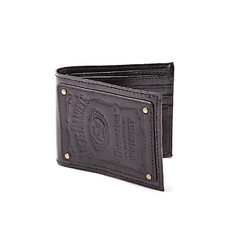 Jack Daniels Wallet Embroided Logo Official New Black Leather Bi Fold