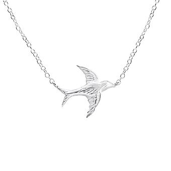 Bird - 925 Sterling Silver Plain Necklaces - W18462X