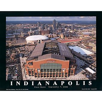 Indianapolis Colts Lucas Oil Stadium Indiana Poster Print by Mike Smith (28 x 22)