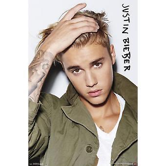 Justin Bieber - øyne plakat plakatutskrift