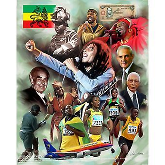 Ямайка из многих один плакат печати Wishum Григорием (20 x 24)