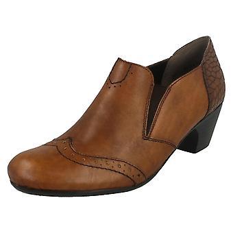 Damer plats på blockera fläckiga hälen ankel Boots F50563