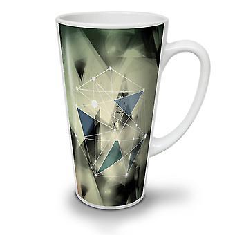 5a5570e3 Salg Geometrisk figur nye hvit te kaffe keramiske Latte krus 17 oz    Wellcoda