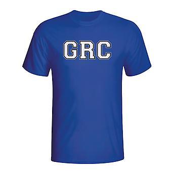 Grecia paese Iso t-shirt (blu)