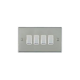 Hamilton Litestat Hartland Bright Stainless Chrome 4g 250W M-Way Touch Mast BC/WH