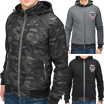 Men's reversible jacket CROSS Zip Hoodie jacket camouflage style wind jacket