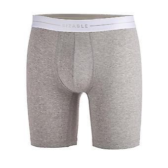 Ansehnliche langes Bein Männer langes Bein grau Bio-Baumwolle ausgestattet Boxer