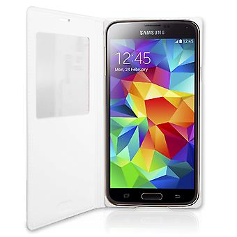 Officiële Samsung Galaxy S5 S View Cover - wit