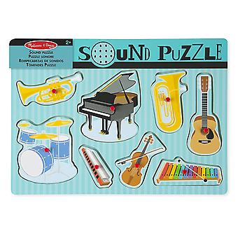Melissa & Doug Musical Instruments Sound Puzzle 8 pcs