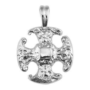 Silver 21mm fancy Cross