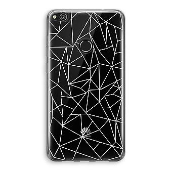 Huawei Ascend P8 Lite (2017) Transparant Case (Soft) - Geometric lines white