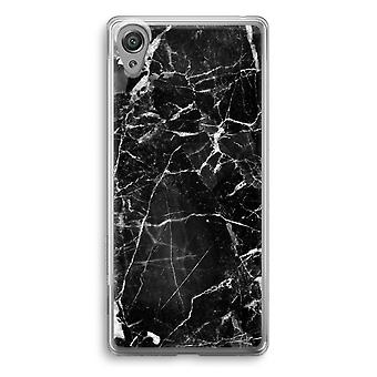 Sony Xperia XA1 Transparent Case - Black Marble 2
