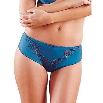 Guy de France 61103-181-097 Women's Blue Solid Colour Lace Knickers Panty Brief