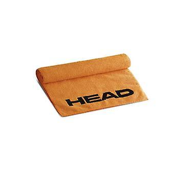 Hoofd zwemmen microvezel handdoek Medium - Oranje