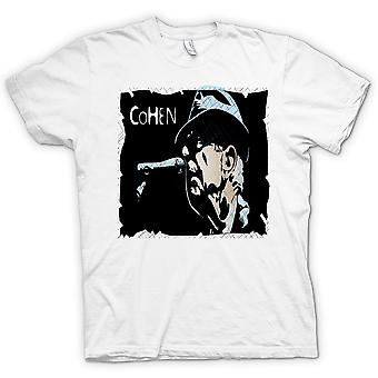Heren T-shirt-Leonard Cohen legende