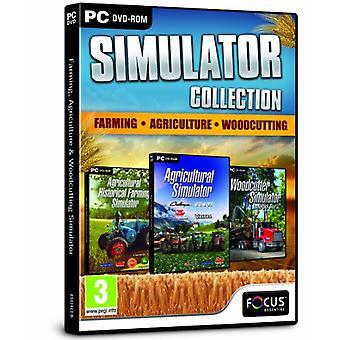 Landbouw landbouw en Woodcutting Simulator Triple Pack (PC DVD)