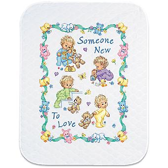 Baby Hugs Someone New Quilt Stamped Cross Stitch Kit-34