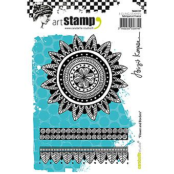 Carabelle Studio Cling Stamp A6-Flower & Borders