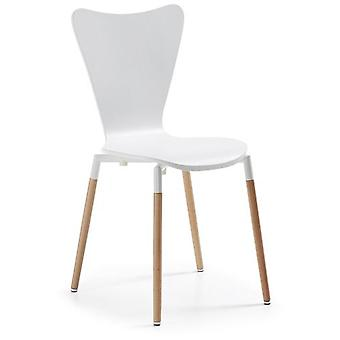 Wellindal Natural Wood Chair Lacquered White Eclectic (Furniture , Chairs , Chairs)