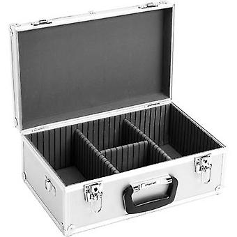 Perel CD hardcase 60 CDs/DVDs/Blu-rays Aluminium 1 pc(s) (W x H x D) 424 x 173 x 265 mm 1823-424