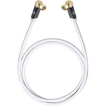 Antennas, SAT Cable [1x F plug - 1x F plug] 5.10 m 120 dB gold plated connectors White Oehlbach Transmission Edge S