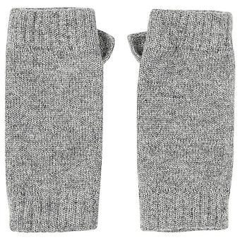Johnstons of Elgin Wrist Warmer Gloves - Light Grey