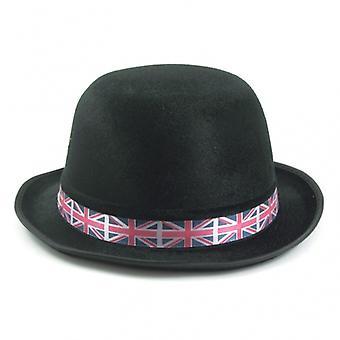 Union Jack porter britannique melon noir avec bande Union Jack