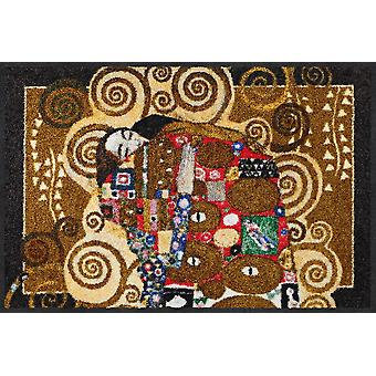 Salon lion Gustav Klimt doormat fulfilling melange washable dirt mat