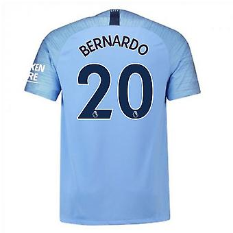 2018-2019 Man City Nike Vapor Home Match Shirt (Bernardo 20)