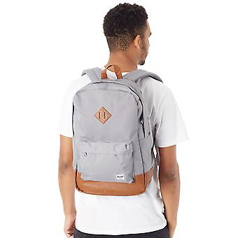 Herschel Grey-Tan Synthetic Leather Heritage - 21.5 Litre Backpack