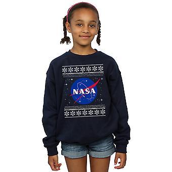 NASA Girls Classic Fair Isle Sweatshirt