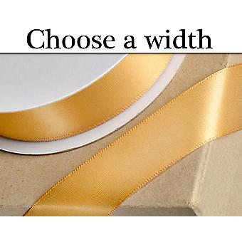 6-38mm Old Gold Satin 25m Ribbon for Crafts