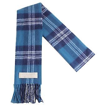 Locharron von Schottland Earl of St Andrews Lambwool Schal - blau/weiß