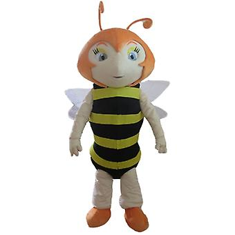 SPOTSOUND of red, striped black and yellow bee mascot