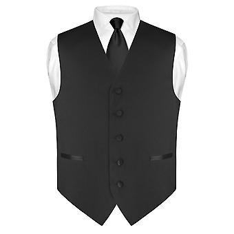 Мужская платье жилет & тощий галстук сплошной цвет 2.5