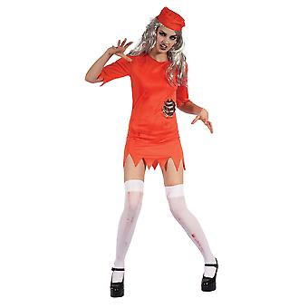 Zombie Prisoner Lady (Orange Dress/Hat)