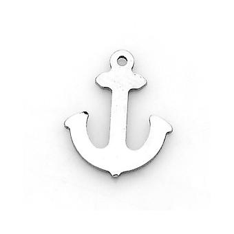 Packet 10 x Silver 304 Stainless Steel 13 x 16mm Anchor Charm/Pendant ZX20270