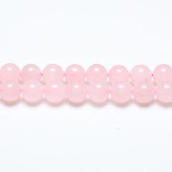 Filo 38 + quarzo rosa 10mm pianura tondo perle GS1581-4
