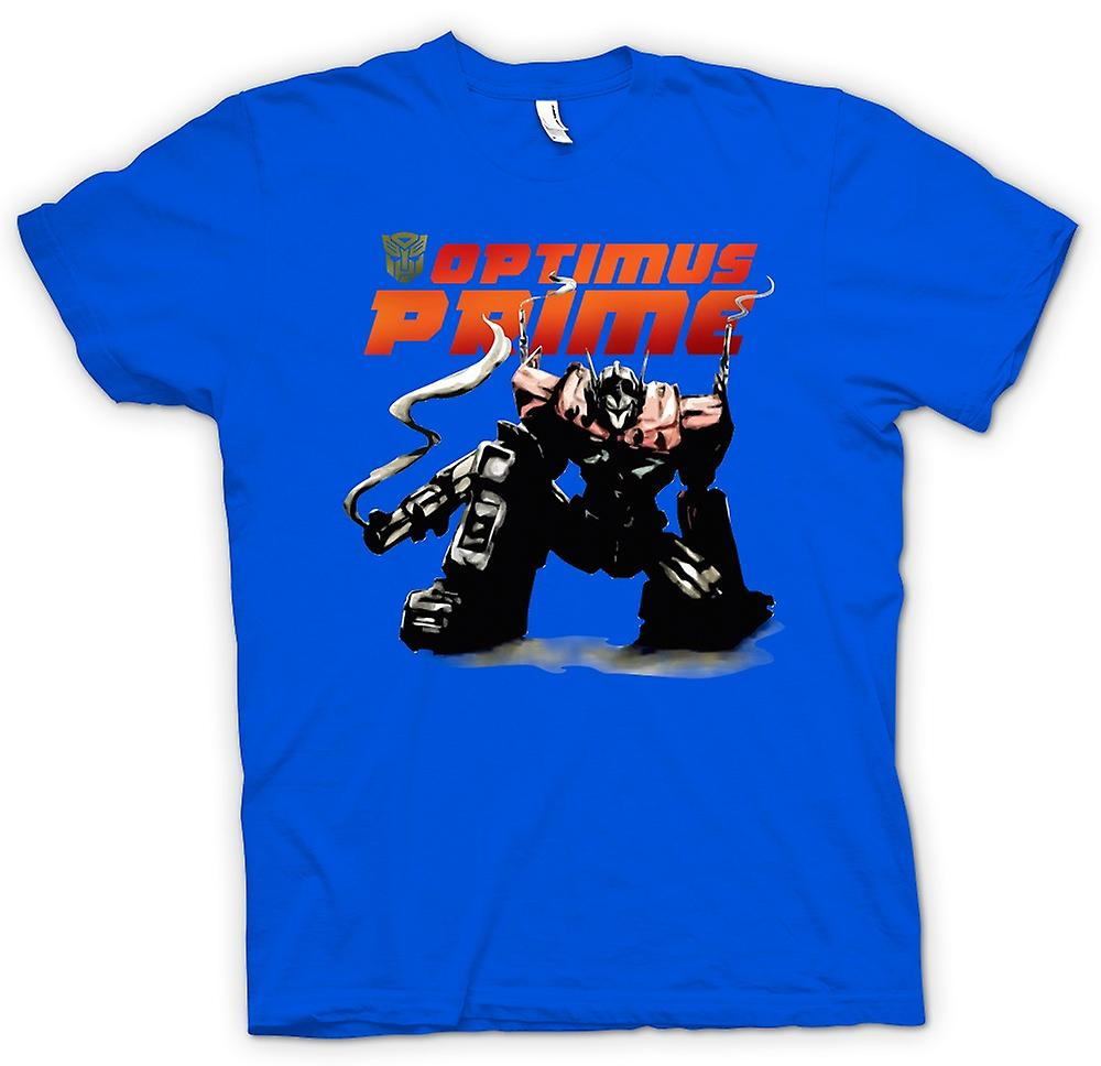 Mens T-shirt - Transformers Optimus Prime Crouching