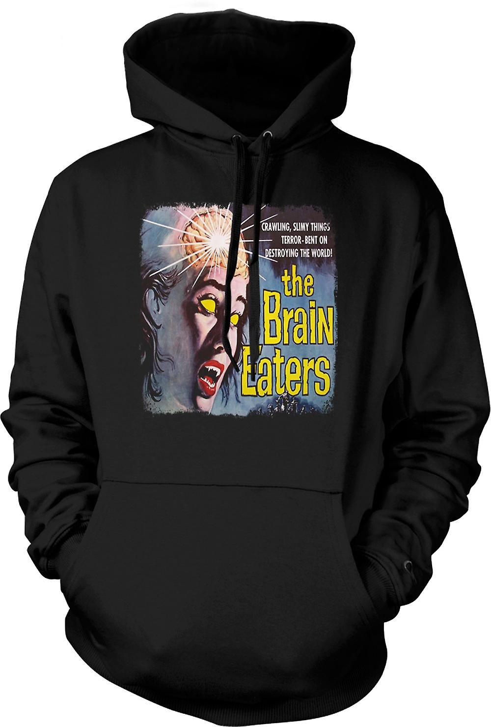 Mens Hoodie - The Brain Eaters - Horror - B Movie