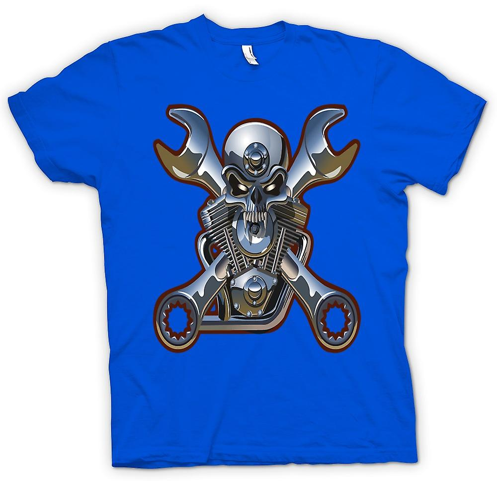 Hommes T-shirt - Biker Engine Mechanic