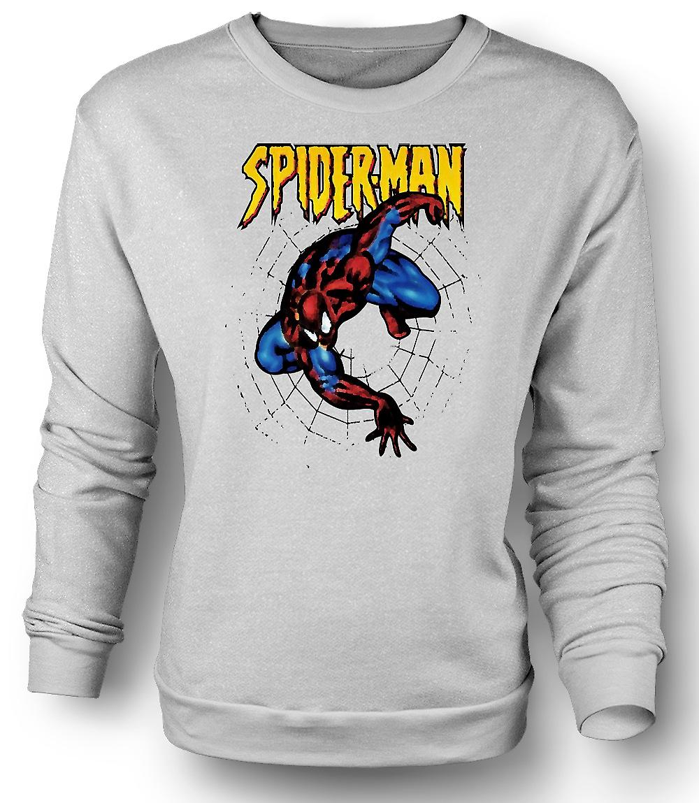 Mens Sweatshirt Superman - Spiderman - popart - komische held