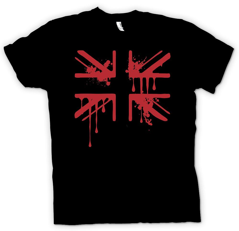 Kids T-shirt - Grunge Blood Union Jack