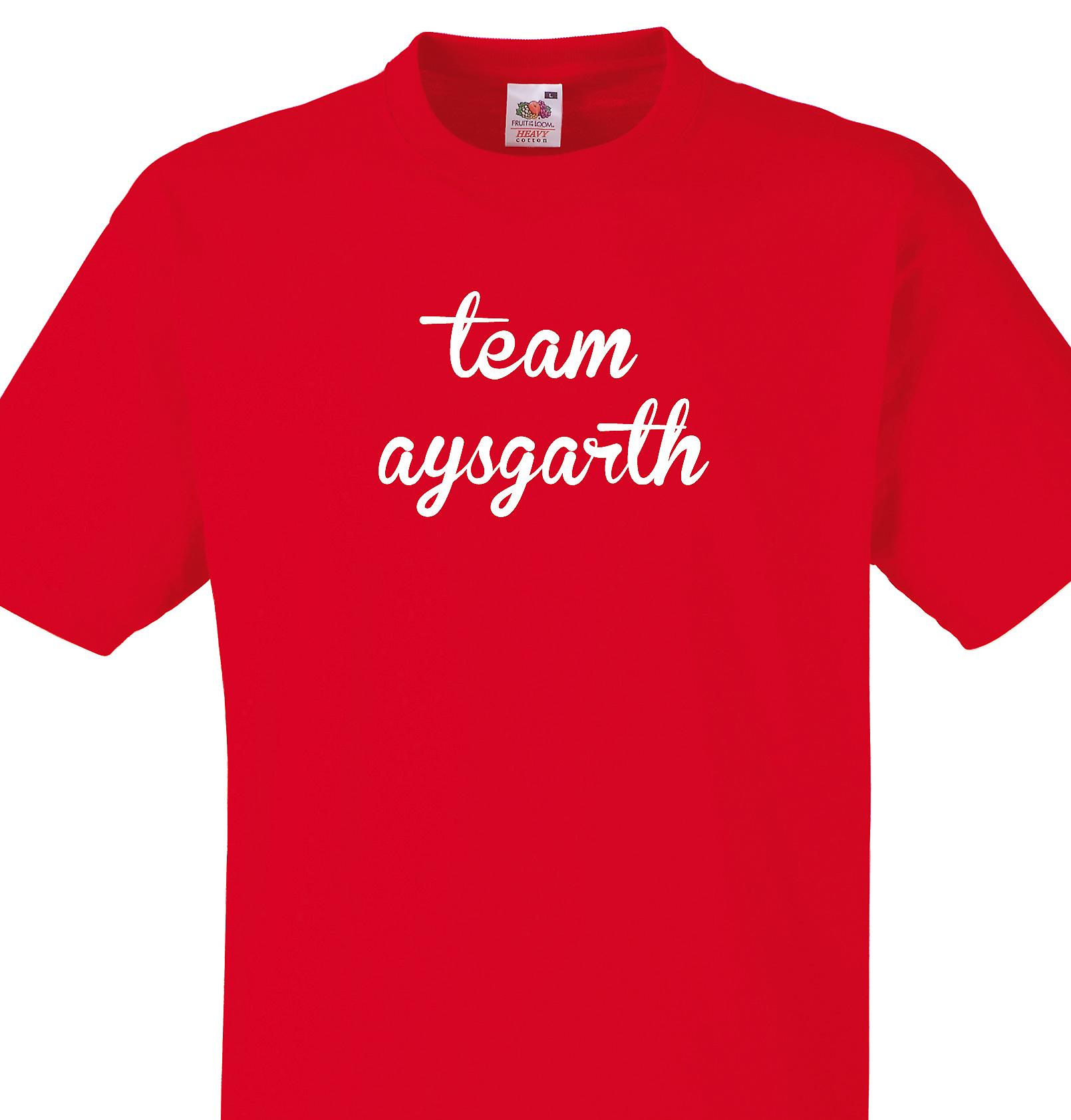 Team Aysgarth Red T shirt