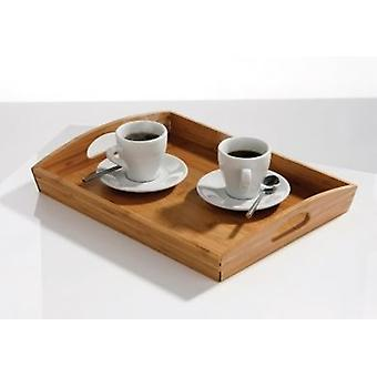 Bamboo Serving Tray Lap Tray with Handles 40x30cm