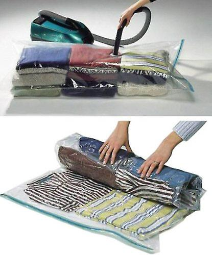12 Packs of Storage Saving Space Clothes Bags - 80cm X 60cm-Vacuum Storage Bag