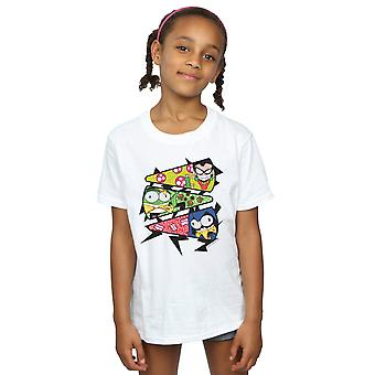 DC Comics jenter Teen Titans gå Pizza skive t-skjorte