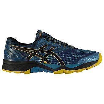 Mens de Asics Gel Fujitrabuco 6 lacez vers le haut de chaussures de Trail Running formateurs randonnées basses