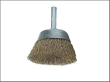 Lessmann DIY Brass Cup Brush 50mm x 0.25 Wire